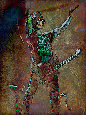 Guns N' Roses Lead Guitarist Dj Ashba Print by Loriental Photography