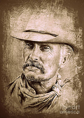 All American Drawing - Gus Mccrae by Andrew Read