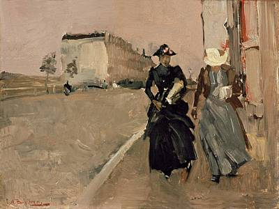 Gust Of Wind Print by George Breitner