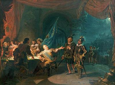 Giving Painting - Gustav II Adolf Having A War by Robert Wilhelm