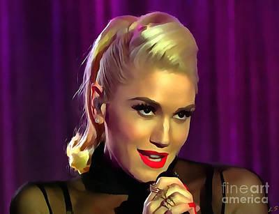 Gwen Stefani Painting - Gwen Stefani by Sergey Lukashin