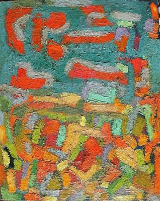 Autumn No. 16 Oil On Board 16 X 18 Print by Radoslaw Zipper
