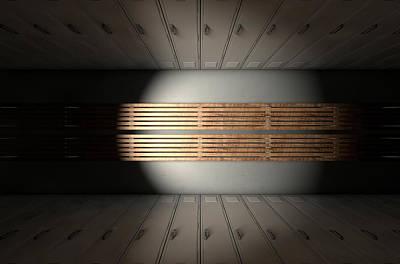 Storage Digital Art - Gym Locker Row New by Allan Swart