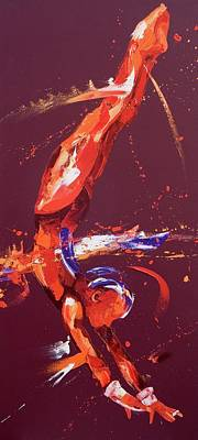 Kinetic Painting - Gymnast Five by Penny Warden