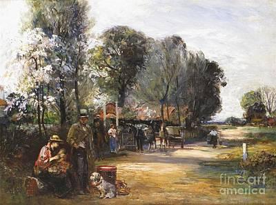 Robertson Painting - Gypsies At The Bell Inn by John Robertson