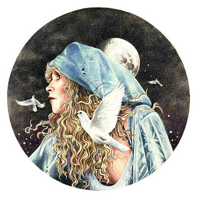 Moon Drawing - Gypsy by Johanna Pieterman