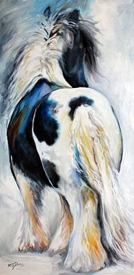 Gypsy Vanner Modern Abstract Print by Marcia Baldwin