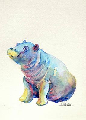 H Is For Hippopotamus Original by Richelle Siska
