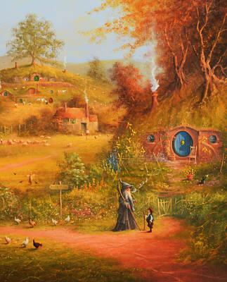 Hogwarts Painting - Hogwarts by Joe Gilronan