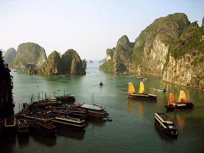 Lively Photograph - Ha Long Bay by Oliver Johnston