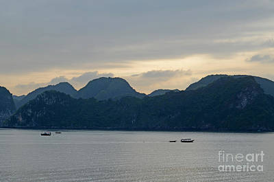 Photograph - Ha Long Bay Sunset Tom Wurl by Tom Wurl
