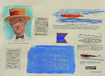 Hacker Boat Poster Original by Robert P Hedden