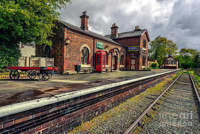 Abandoned Digital Art - Hadlow Road Railway Station by Adrian Evans