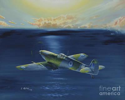 Georgio Painting - Haf Museums Spitfire Mk.9 by Georgios Moris