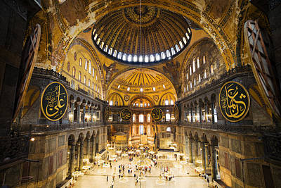 Hagia Sophia Interior Print by Artur Bogacki
