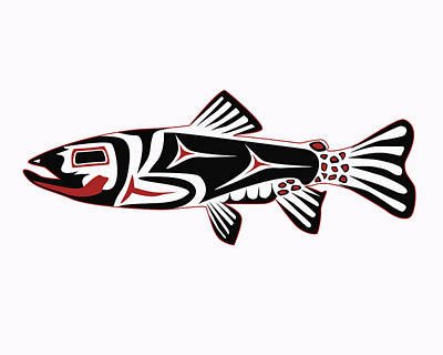 Haida Trout Print by Rob Tullis