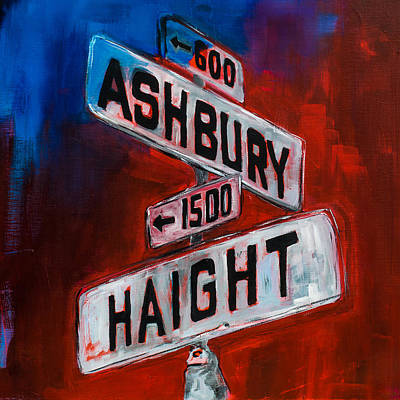 Haight And Ashbury Print by Elise Palmigiani