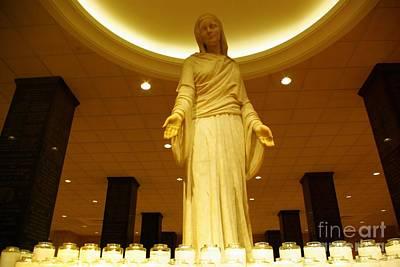 Hail Mary Full Of Grace...amen Print by John S