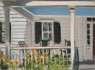 Rocking Chairs Painting - Haint Paint by Christopher Reid