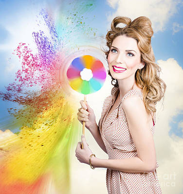 Hair And Makeup Coloring Concept Print by Jorgo Photography - Wall Art Gallery