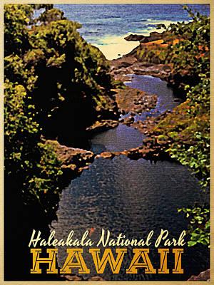 Haleakala National Park Hawaii Print by Flo Karp