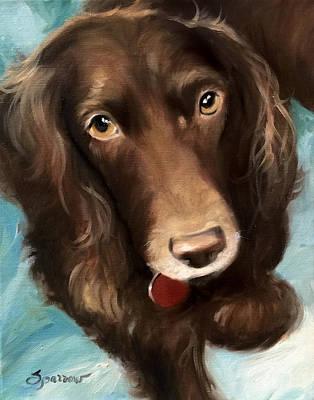 Boykin Spaniel Painting - Haley by Mary Sparrow