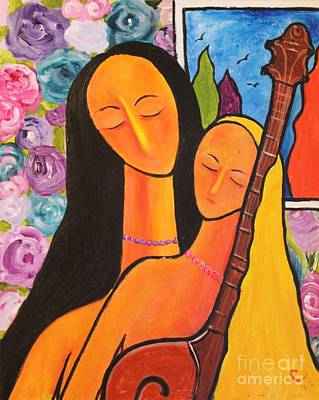 Tree With Eye Painting - Haleys Serenade by Chaline Ouellet
