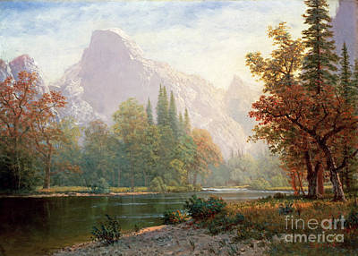 Half Dome Painting - Half Dome by Celestial Images