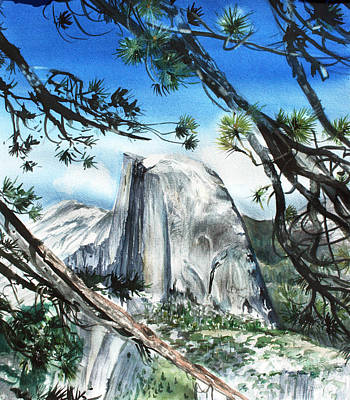 Half Dome In The Late Afternoon Print by Kate Peper