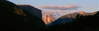 Half Dome Mountain At Sunset, Yosemite Print by Panoramic Images
