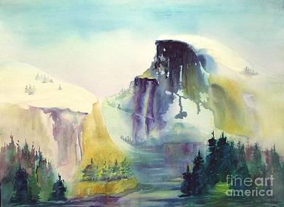 Maryann Painting - Half Dome Yosemite by Maryann Schigur