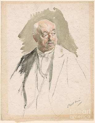 Evening Dress Painting - Half Length Study Of An Elderly Man In Evening Dress by Giovanni Boldini