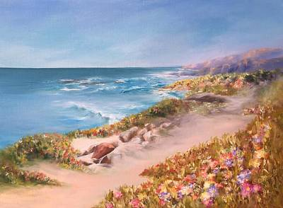 Painting - Half Moon Bay, Spring Blossoms by Donna Pierce-Clark