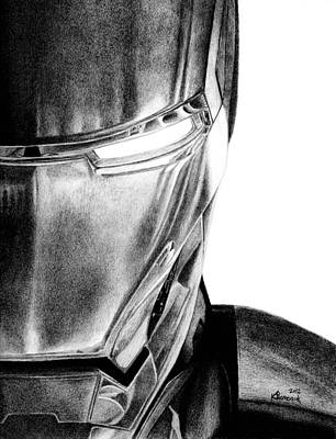 Marvel Drawing - Half Of The Iron by Kayleigh Semeniuk