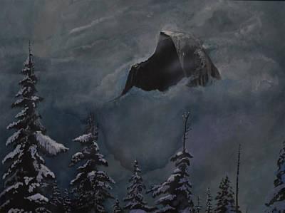 Yosemite Painting - Halfdome by John  Alexopoulos