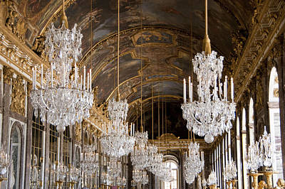 Hall Of Mirrors Palace Of Versailles France Print by Jon Berghoff