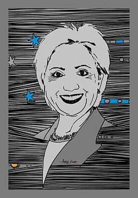 Hillary Clinton Painting - Hallary Clinton by Artist Singh