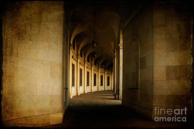 Walkway Digital Art - Hallowed Hall by Lois Bryan