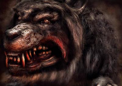 Halloween -  Mad Dog Print by Mike Savad