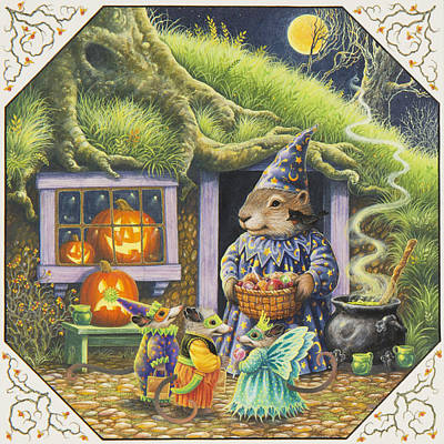 Groundhog Painting - Halloween Costumes by Lynn Bywaters