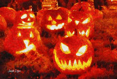 Trick Painting - Halloween Friends - Pa by Leonardo Digenio
