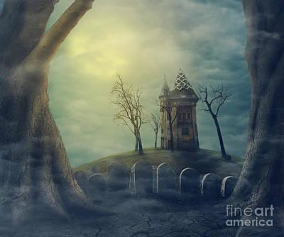 Haunted House Digital Art - Halloween  by Jelena Jovanovic