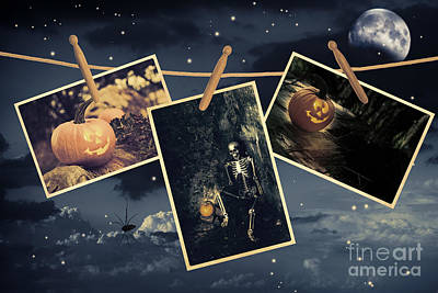Skull Photograph - Halloween Line by Amanda And Christopher Elwell