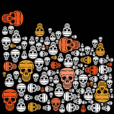 Halloween Print by Mark Ashkenazi
