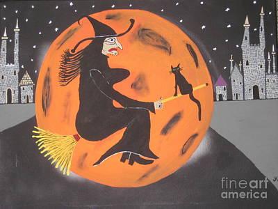 Halloween Night At Disneyland Print by Jeffrey Koss