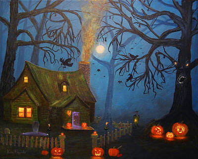 Halloween Night Print by Ken Figurski