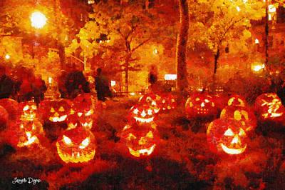 Produce Painting - Halloween Night - Pa by Leonardo Digenio