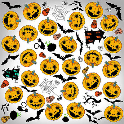 Halloween Party  Print by Mark Ashkenazi