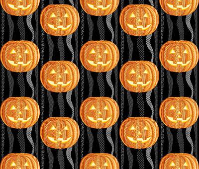 Fall Colour Digital Art - Halloween Pattern by Veronica Kusjen