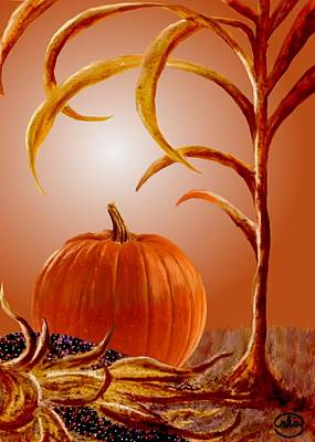 Thanksgiving Pumpkin Print by Ron Chambers